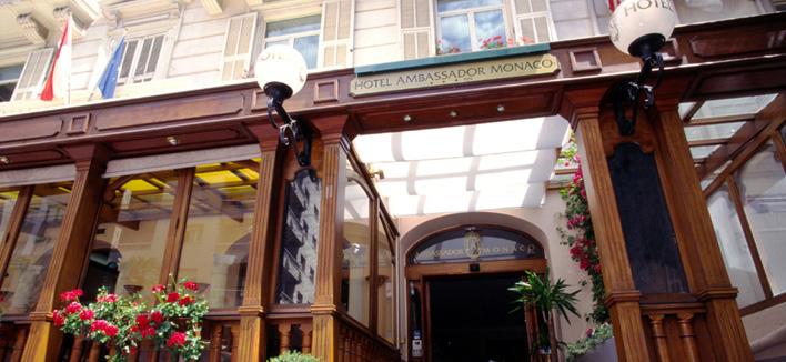 Гостиница Ambassador Монако. Вход в ресторан