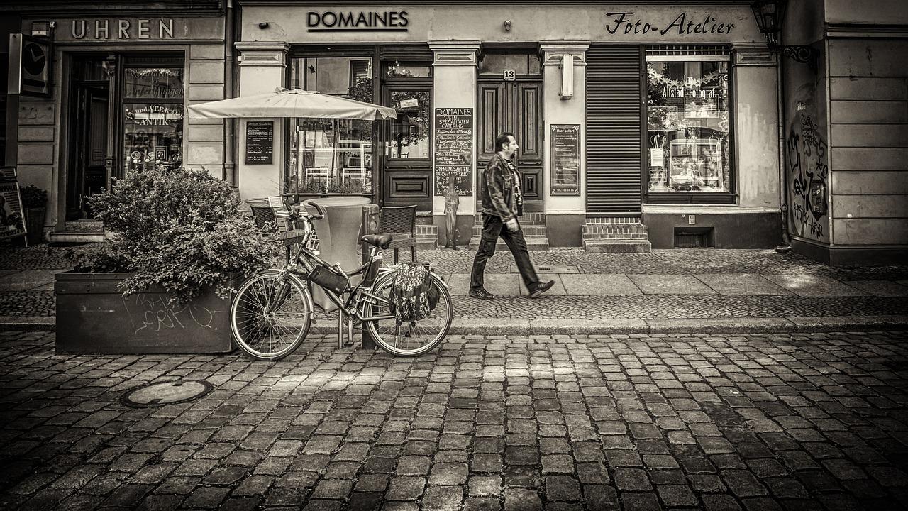 Берлин, старый город, велосипед