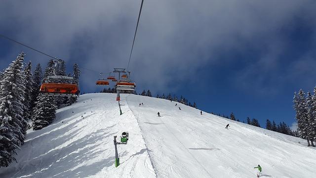 катание на горных лыжах, подъемник